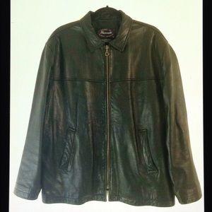Facconable Vintage Lambskin Leather Lined Jacket